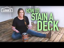 How To Stain A Deck W Monica From The Weekender Youtube