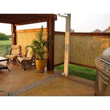 Backyard X Scapes 6 Ft H X 8 Ft W X 1 In D Natural Rolled Bamboo Fence Panel Hdd Bf05 The Home Depot
