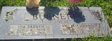 PARKER BURNETT, IDA - Madison County, Arkansas   IDA PARKER BURNETT -  Arkansas Gravestone Photos