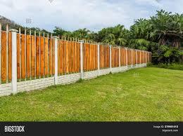 Boundary Fence Wood Image Photo Free Trial Bigstock