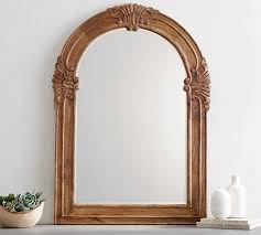 mendosa arch wood wall mirror pottery