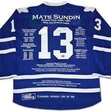 mats sundin career jersey autographed