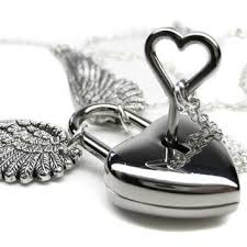heart padlock necklace products on wanelo