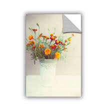Brushtone Flowers Classical Vase Removable Wall Decal Color White Jcpenney