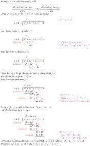 algebraic long division an
