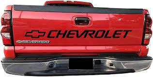 Amazon Com Fashionmz Chevy Silverado Tailgate Decal Chevrolet Bed Sticker Tail 454 3500 Vinyl Graphics Ss 1500 2500 Automotive