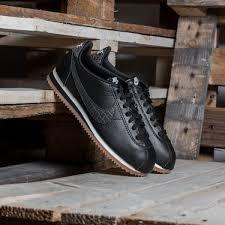 nike w classic cortez leather lux black