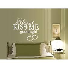 Always Kiss Me Goodnight With Hearts 11 Wall Or Window Decal 22 X 25 White Walmart Com Walmart Com