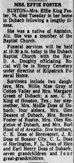 Effie Foster Obituary - Newspapers.com