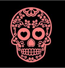 Sugar Skull Decal Custom Vinyl Car Truck Window Sticker Altares De Muertos Dia De Muertos Dibujos