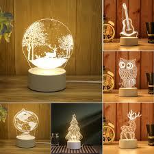 Cute 3d Illusion Led Night Light Usb Table Desktop Lamp Kids Room Nursery Gift Ebay