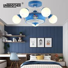 2020 Childrenroom Ceiling Fan Lights For Kids Girls Boys Gift Cute Cartoon Pink Blue Lights Quiete Fans Bedroom Decorations Fixture From Lucion 891 79 Dhgate Com