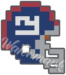New York Giants 8 Bit Tecmo Bowl Logo Vinyl Decal Sticker 10 Sizes Sportz For Less