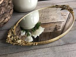 mid century dresser mirror tray