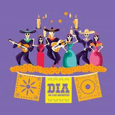 Fiesta de calaveras de mariachi y catrina   Vector Premium