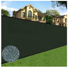 Orion 6 Ft X 50 Ft Green Privacy Fence Screen Netting Mesh With Reinforced Eyelets For Chain Link Garden Fence 10 117 The Home Depot