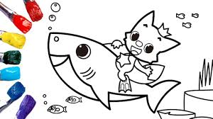 Baby Shark Nursery Rhyme Coloring Pages For Kids 1080p Coloring Pinkfong And Baby Shark Youtube