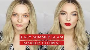 easy summer glam makeup tutorial