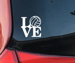 Volleyball Love Decal Volleyball Sports Love Car Decal Car Vinyl Computer Laptop Coffee Mug Window Decal Yeti Decal Laptop Decal