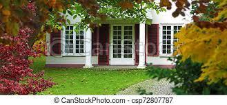 white retor style vintage villa with