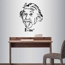 Amazon Com Wall Vinyl Decal Home Decor Art Sticker Albert Einstein Famous Scientist Physicist Face Classroom Bedroom Living Room Removable Stylish Mural Unique Design 367 Home Kitchen