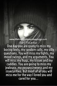 one day you will miss me quotes quotes mystiekevrouwen