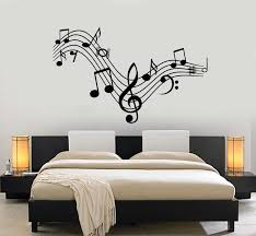 Vinyl Wall Decal Music Clef Sign Singing Musical Notes Home Decoration Wallstickers4you