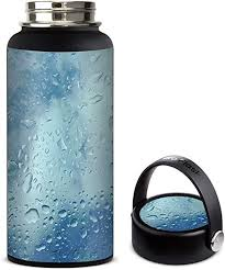 Amazon Com Skin Decal Vinyl Wrap For Hydro Flask 32oz Wide Mouth Stickers Skins Cover Raindrops Kitchen Dining