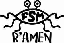 Flying Spaghetti Monster Car Badge Emblem Decal Sticker Atheist Fsm Pastafarian For Sale Online Ebay