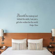 Winston Porter Downham Beneath The Makeup And Behind The Smile Marilyn Monroe Wall Decal Wayfair
