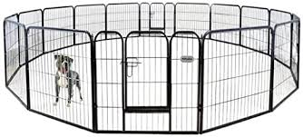 Amazon Com Petpremium Dog Pen Metal Fence Gate Portable Outdoor Rv Play Yard Heavy Duty Outside Pet Large Playpen Exercise Indoor Puppy Kennel Cage Crate Enclosures 32 Height 16 Panel Pet Supplies
