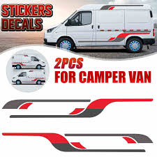 Car Body Vinyl Decal Stickers Stripes Diy Decoration Large Graphics For Rv Caravan For Ford Transit Aliexpress
