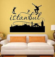 Wall Stickers Istanbul Turkey Turkish Decor City Vinyl Decal Ig1969 Ebay