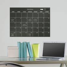 Wallpops 17 5 In X 24 In Calendar Wall Decal In Black Wpe0981 The Home Depot