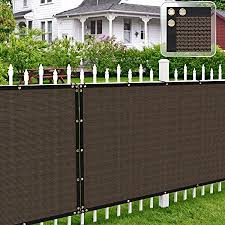 Amazon Com Patio Paradise 6 X 50 Brown Fence Privacy Screen Commercial Outdoor Backyard Shade Windscreen Mesh Fabric With Brass Gromment 90 Blockage 3 Years Warranty Customized Garden Outdoor