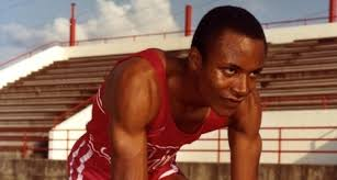 Former Tide track star Calvin Smith in Alabama Sports Hall of Fame