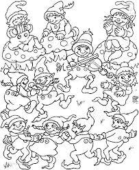 Kleurplaat Kerst Elfjes Kleurplaat Dansende Elfen