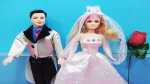 Đồ chơi trẻ em BÚP BÊ CÔ DÂU CHÚ RỂ - Kids toys dolls review - YouTube