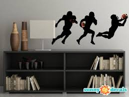 Football Silhouette Fabric Wall Decals Set Of 3 Sunny Decals