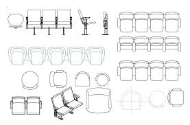 waiting area chair cad blocks drawing