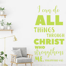 Philippians 4 13 Quotes Decals I Can Do All Things Wall Lettering Murals Study Room Wall Stickers Excitation Wallpapers Lc1518 Wall Stickers Aliexpress