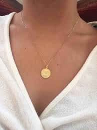gold coin necklace coin necklace