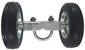 Rolling Gate 6 Wheel Carrier For Chain Link Fence Rolling Gates Rut Runner 2 Rubber Wheels Axle Is 6 From Wheel To Wheel For Rolling Sliding Chain Link Fence Gates