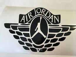 Air Jordan Car Decal For Windows Bumpers Panels Or Laptops Ebay