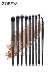 9 pcs zoreya makeup brush sets soft