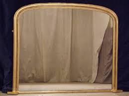 antique gilt overmantle mirror c1890
