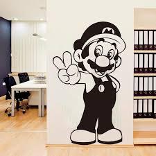 Super Mario Wall Sticker Retro Video Game Hero Vinyl Decal Home Interior Decor Art Murals Childrens Room Creative Cartoon Room Decor Wall Stickers Room Decoration Stickers From Joystickers 11 22 Dhgate Com