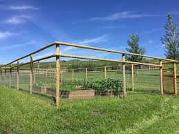 Dog And Garden Fence For Acreages Foothills Fencing Inc