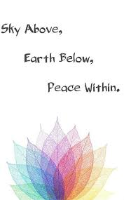 sky above earth below peace in chakra quote made by me