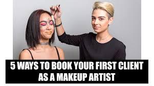 client as a makeup artist